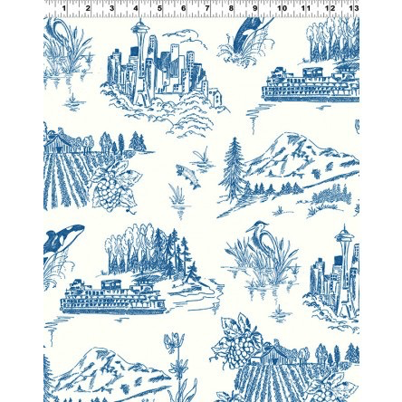 Pacific Northwest Toile Blue