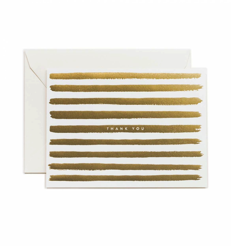 Rifle Paper Co. Gold Stripes Thank You Card Boxed Set