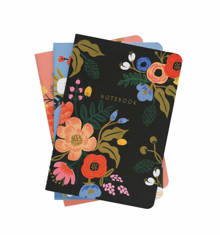 RIfle Paper Co. Lively Floral Notebooks (Assorted; Set of 3)