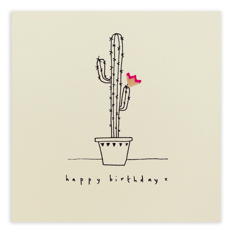 Pencil Shavings Birthday Cactus Card