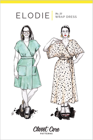 Closet Core Patterns Elodie Wrap Dress Sewing Pattern