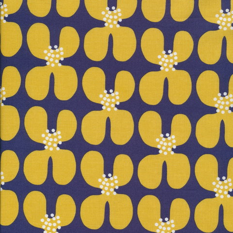 Matte Cotton Laminates by Cloud9 Golden Poppy by Jessica Nielsen Yellow 60""