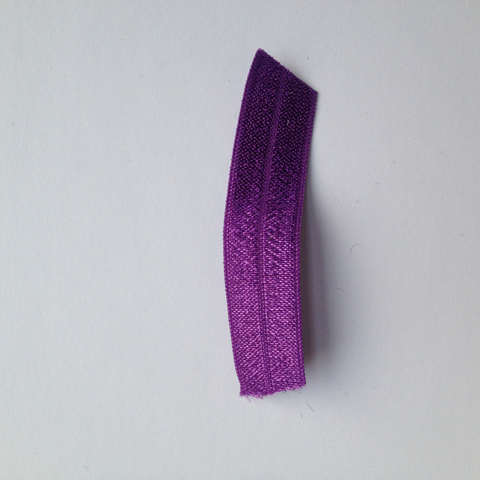 "Fold Over Elastic 5/8"" Medium Purple"