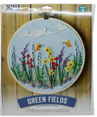 Mini Maker Stitchery Kit - Green Fields