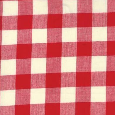 Picnic Basket Woven Check Plaid Red