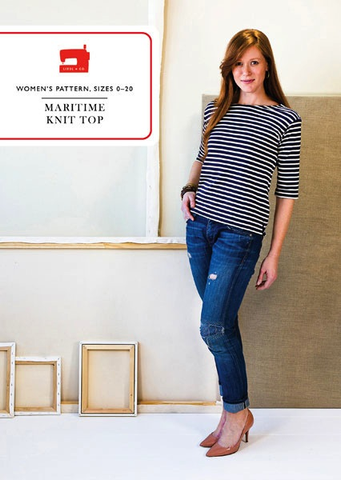 Liesl + Co. Maritime Knit Top Sewing Pattern