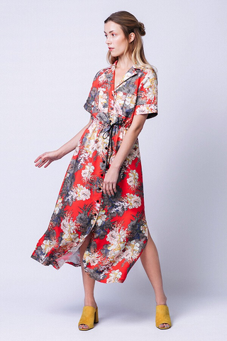 Named Patterns Reeta Midi Shirt Dress Sewing Pattern