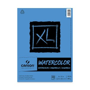 Canson XL 9x12 Watercolor Pad, 30 Sheets