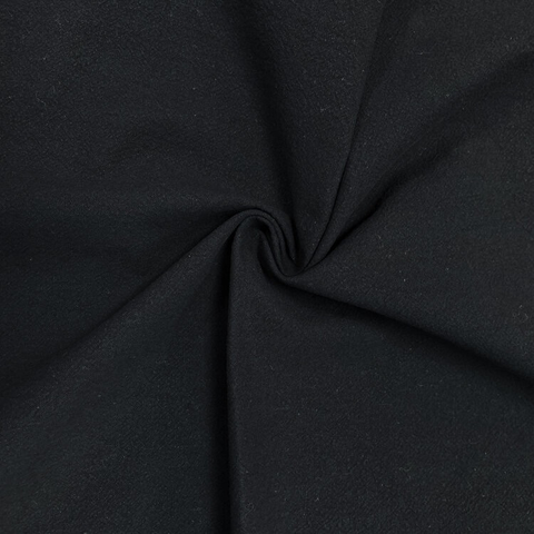 Sand-Washed Cotton Crepe Black 52""