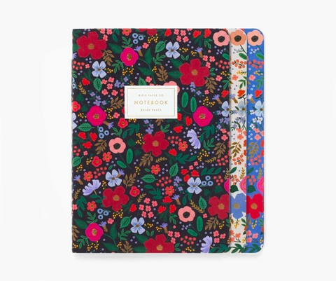 Rifle Paper Co. Assorted Set of 3 Wild Rose Notebooks