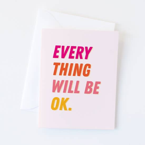 Graphic Anthology Everything OK Card