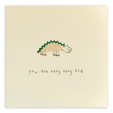 Pencil Shavings Birthday Dinosaur Card