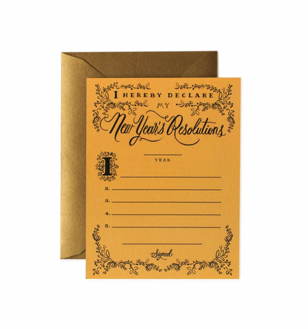Rifle Paper Co. New Year's Resolution Constitution Card