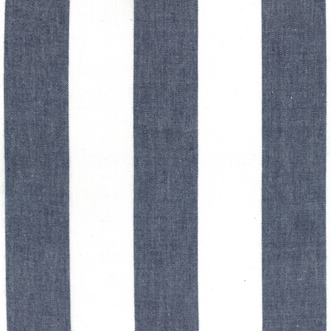 Picnic Point Tea Striped Toweling by Pieces to Treasure Dark Blue/White