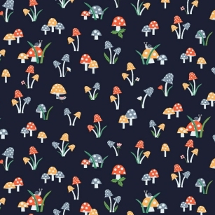 May The Forest Be With You by Dear Stella Mushrooms Navy