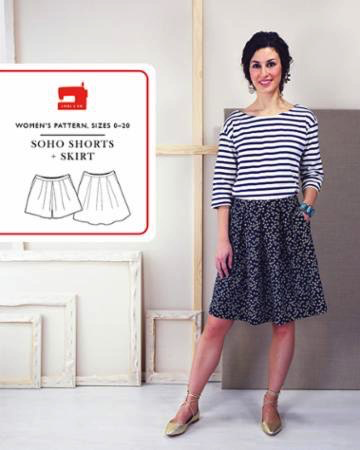 Liesl + Co. Soho Shorts + Skirt Sewing Pattern