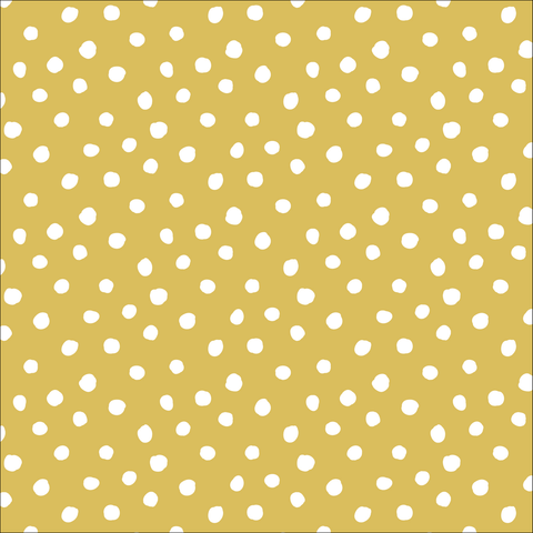 Jessica Jones for Cloud9 Organic Interlock Knit Dots Gold 54""