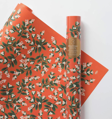 Rifle Paper Co. Roll Mistletoe Wrapping Sheets