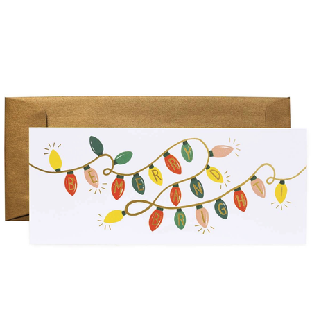 Rifle Paper Co. Be Merry & Bright Lights No. 10 Card