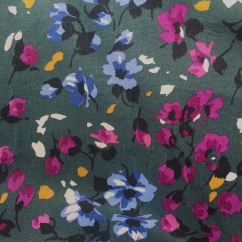 Italian Cotton April Flowers Multi 58""