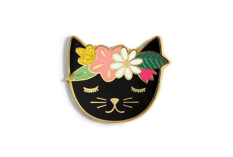 Kiriki Press Floral Cat Magnetic Needleminder