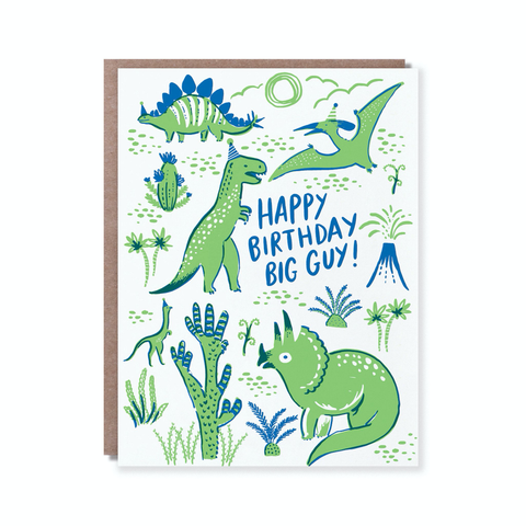 Hello Lucky Dino Party Card