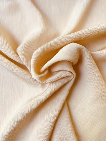 Crinkle Silk Iced Peach 45""
