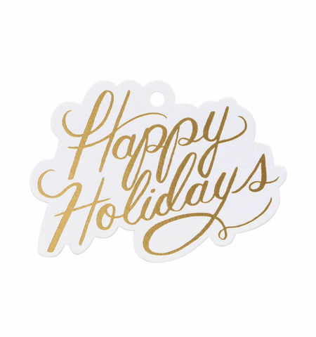 Rifle Paper Co. Happy Holidays Gift Tags (8 ct)