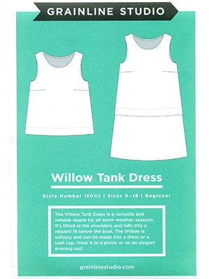 The Willow Tank + Dress Pattern by Grainline Studio (Printed)