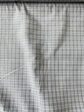 Cotton Plaid Shirting Gray 60""