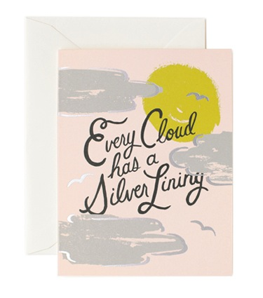 Rifle Paper Co. Silver Lining Card