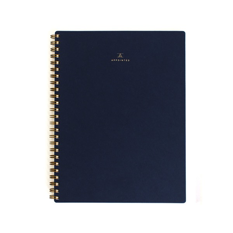Appointed Grid Workbook Navy