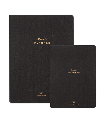 Appointed Large Monthly Planner Charcoal Gray
