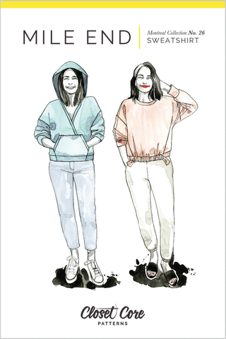 Closet Core Patterns Mile End Sweatshirt Sewing Pattern
