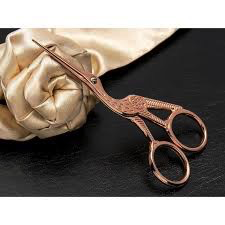 Rose Gold Stork Scissor