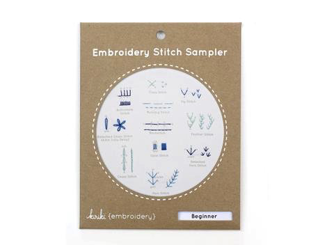 Kiriki Press Beginner Stitch Sampler Embroidery Kit