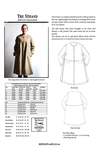 Merchant and Mills The Strand Coat Sewing Pattern – Drygoods Design