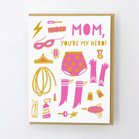 Hello Lucky Super Mom Card