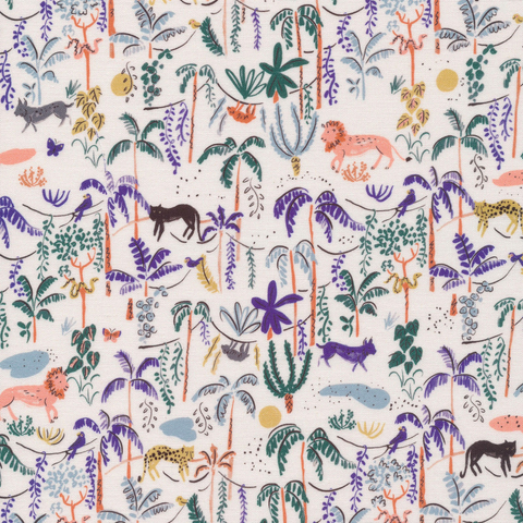 Garden of Eden by Louise Cunningham for Cloud9 Organic Cotton Bountiful Forest