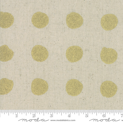 Zen Chic Chill Mochi Linen Gold Dots (Metallic)