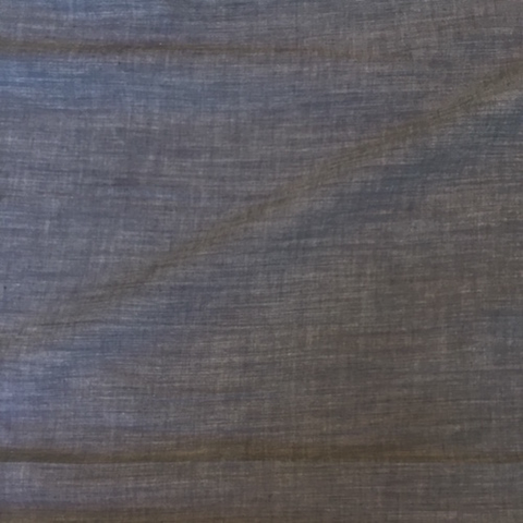 Organic Cotton Chambray Gray Blue 58""