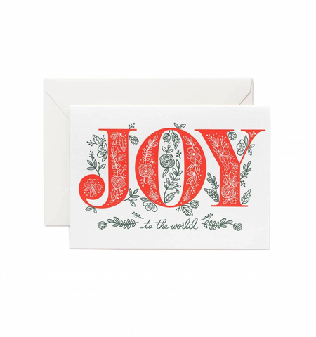 Rifle Paper Co. Joy to the World 4Bar Card