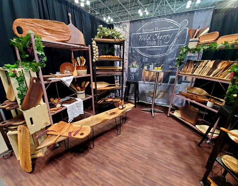 Wooden kitchen home and lifestyle goods artisan handcarved.