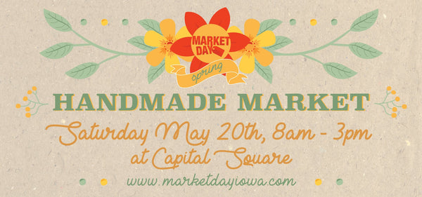 Market Day Iowa poster of may market