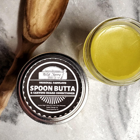 Spoon Butta, Wood Spoon and Cutting Board Conditioner Single 4 Oz Jar
