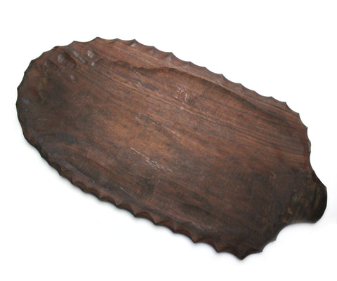 Platter, Leaf Shape Handle
