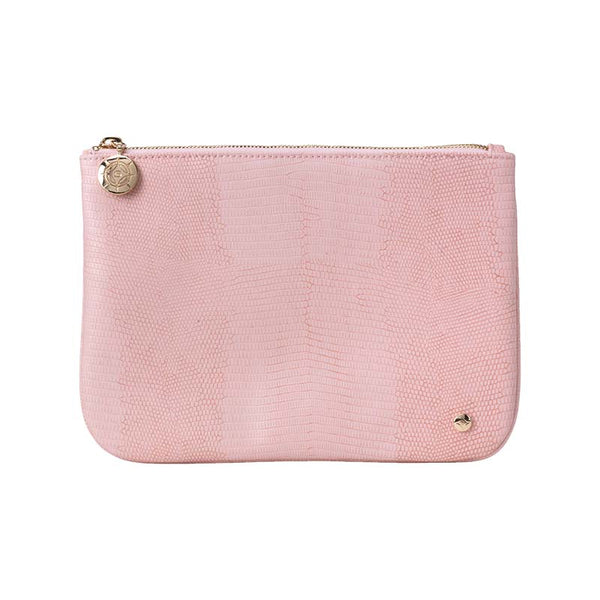 Large Flat Pouch Rose Peony Pink