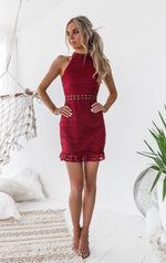 Rivers Lace Dress - Red - STYLE STRUCK