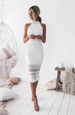 Rivers Midi Dress - White - Nouveau Riche Boutique