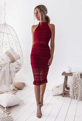 Rivers Midi Dress - Red | Two Sisters The Label